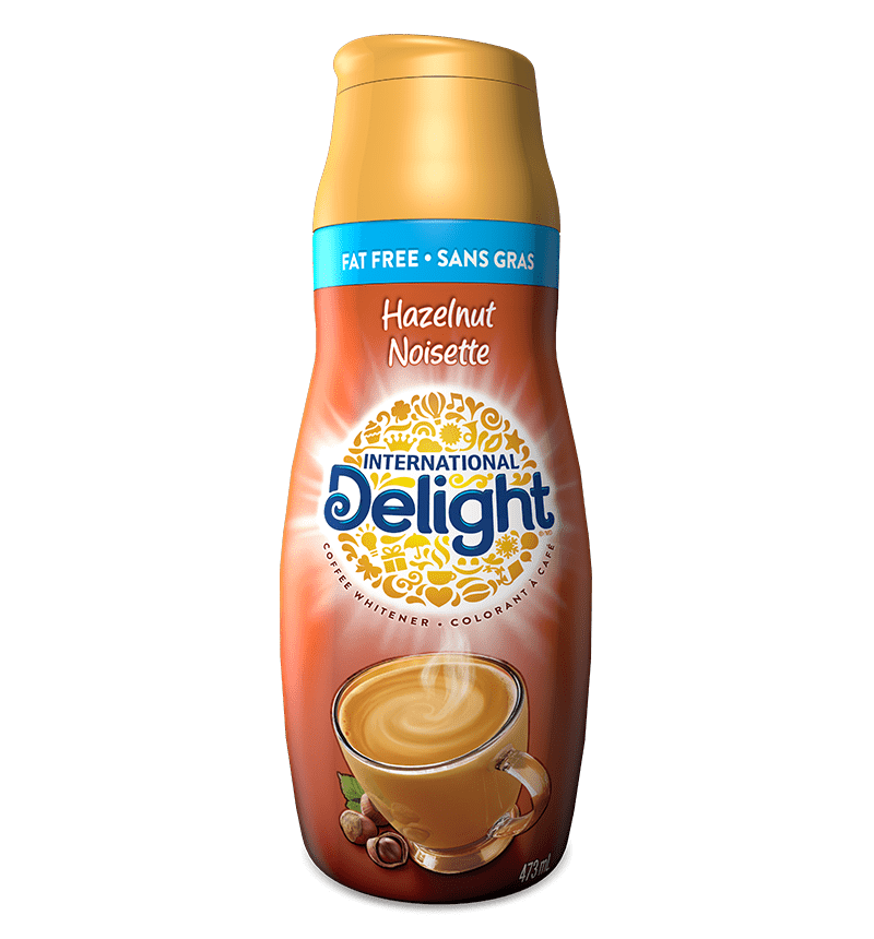 Hazelnut fat free coffee creamer