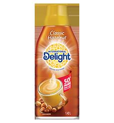 Hazelnut coffee creamer